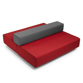 Red + Dark Gray Block Party Lounge Back It Up Sofa,Red,hi-res