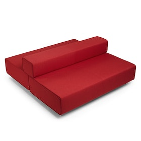 Block Party Lounge Back it Up Sofa, Red,Red,hi-res