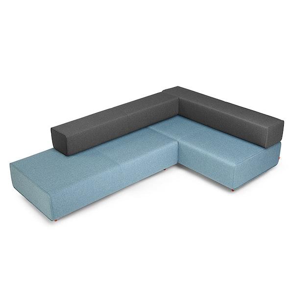 Blue + Dark Gray Block Party Lounge Corner Office,Blue,hi-res