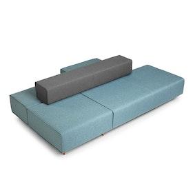 Blue + Dark Gray Block Party Lounge Gilligan,Blue,hi-res