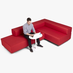 Block Party Lounge Corner Office, Red + Dark Gray,Red,hi-res