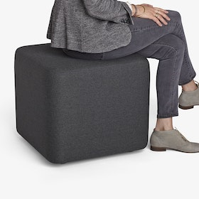 Charcoal Block Party Ottoman,Charcoal,hi-res