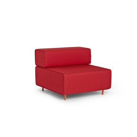 Red Block Party Lounge Chair,Red,hi-res