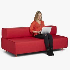 Red Block Party Lounge Sofa,Red,hi-res