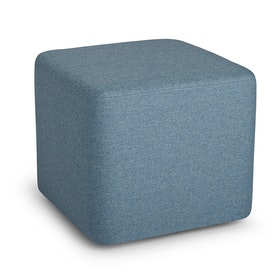 Blue Block Party Ottoman,Pool Blue,hi-res