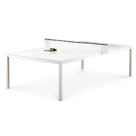 White + Black Ping-Pong Conference Table,White,hi-res