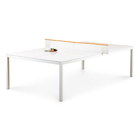 White + Orange Ping-Pong Conference Table,White,hi-res