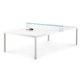 White + Pool Blue Ping-Pong Conference Table,White,hi-res