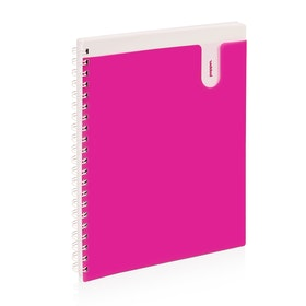 Pink 1-Subject Pocket Spiral Notebook,Pink,hi-res