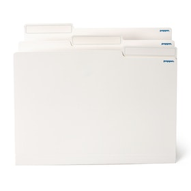 White Letter-Size File Folders, Box of 24,White,hi-res
