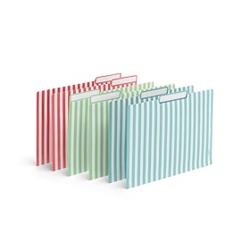 Fresh Assorted Striped File Folders, Set of 6,,hi-res