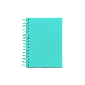 Aqua Medium Spiral Notebook,Aqua,hi-res