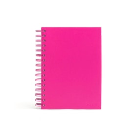 Pink Medium Spiral Notebook,Pink,hi-res