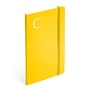Yellow Medium Soft Cover Notebook with Silver Initial,,hi-res