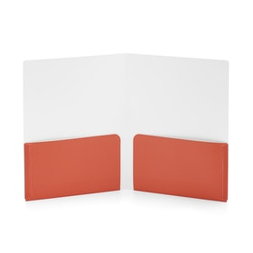 Aqua + Coral 2-Pocket Poly Folder,Aqua,hi-res
