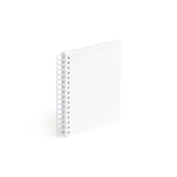 White Medium Spiral Notebook,White,hi-res