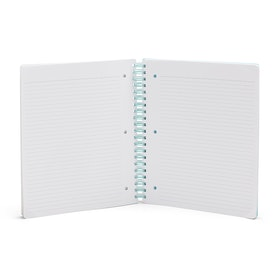 Aqua Shadow Dot 1-Subject Spiral Subject Notebook,Aqua,hi-res