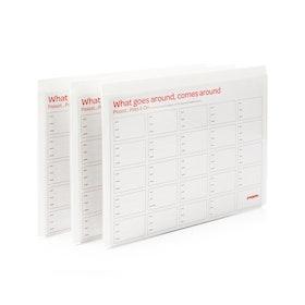 White Tab Folio, Set of 3,White,hi-res
