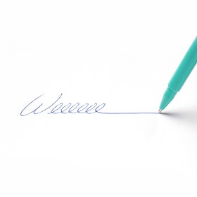 Custom Aqua Signature Ballpoint Pen with Blue Ink,Aqua,hi-res