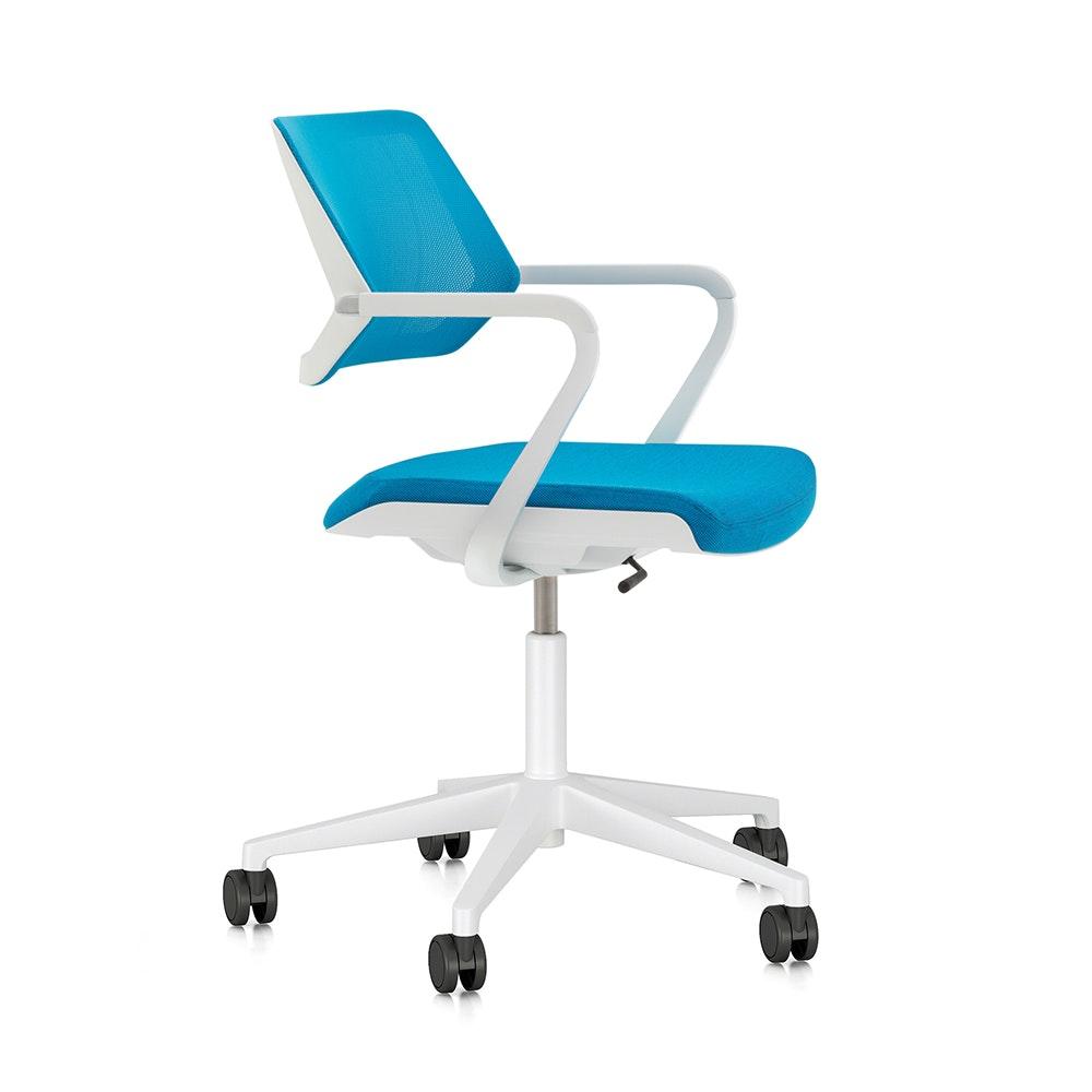 Superior Pool Blue Qivi Desk Chair,Pool Blue,hi Res