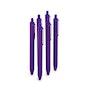 Purple Retractable Ballpoint Pens, Set of 6,Purple,hi-res