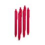 Red Retractable Ballpoint Pens w/ Red Ink, Set of 6,Red,hi-res