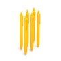 Yellow Retractable Ballpoint Pens, Set of 6,Yellow,hi-res
