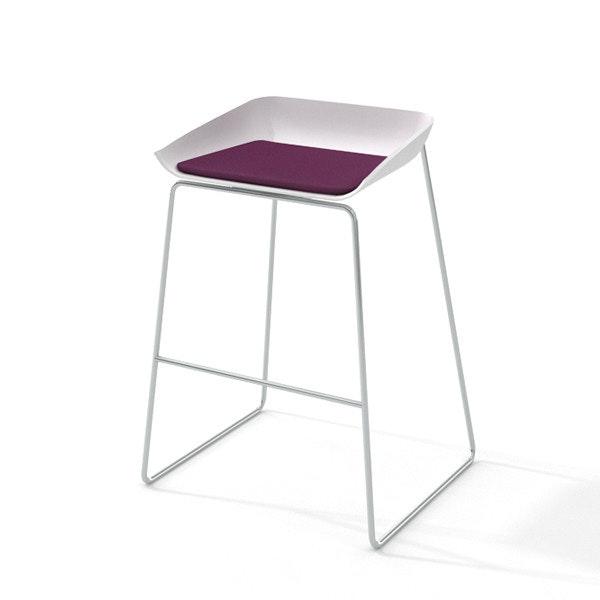 Scoop Bar Stool, Purple Seat, Silver Frame,Purple,hi-res