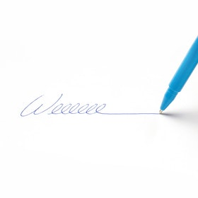 Custom Pool Blue Signature Ballpoint Pen with Blue Ink,Pool Blue,hi-res