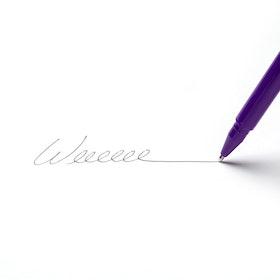 Purple Signature Ballpoint Pens, Set of 12,Purple,hi-res