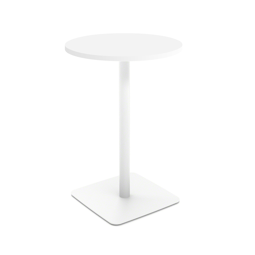 Images. White Simple Round Stand Up Table ...