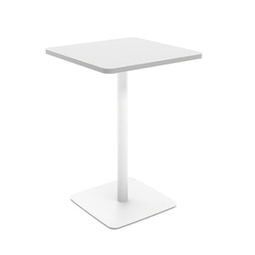 White Simple Square Stand-up Table,,hi-res