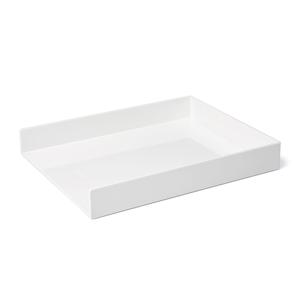 White Single Letter Tray,White,hi-res