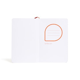 Coral Small Softcover Notebook,Coral,hi-res