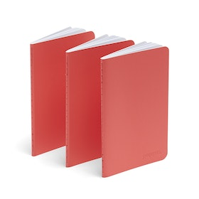 Coral Mini Soft Cover Notebooks, Set of 3,Coral,hi-res