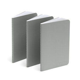 Light Gray Mini Soft Cover Notebooks, Set of 3,Light Gray,hi-res