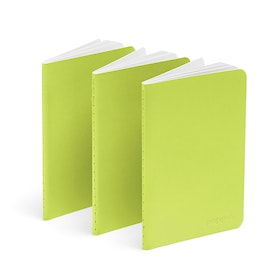 Lime Green Mini Soft Cover Notebooks, Set of 3,Lime Green,hi-res