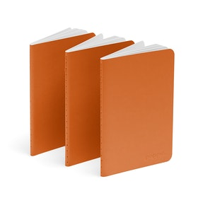 Orange Mini Soft Cover Notebooks, Set of 3,Orange,hi-res