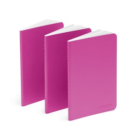 Pink Mini Soft Cover Notebooks, Set of 3,Pink,hi-res