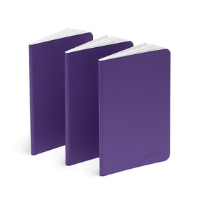 Purple Mini Soft Cover Notebooks, Set of 3,Purple,hi-res