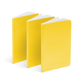 Yellow Mini Soft Cover Notebooks, Set of 3,Yellow,hi-res