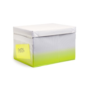 Lime Green Collapsible Storage Box,Lime Green,hi-res