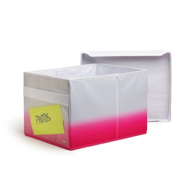 Pink Collapsible Storage Box,Pink,hi-res