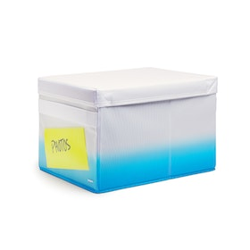 Pool Blue Collapsible Storage Box,Pool Blue,hi-res