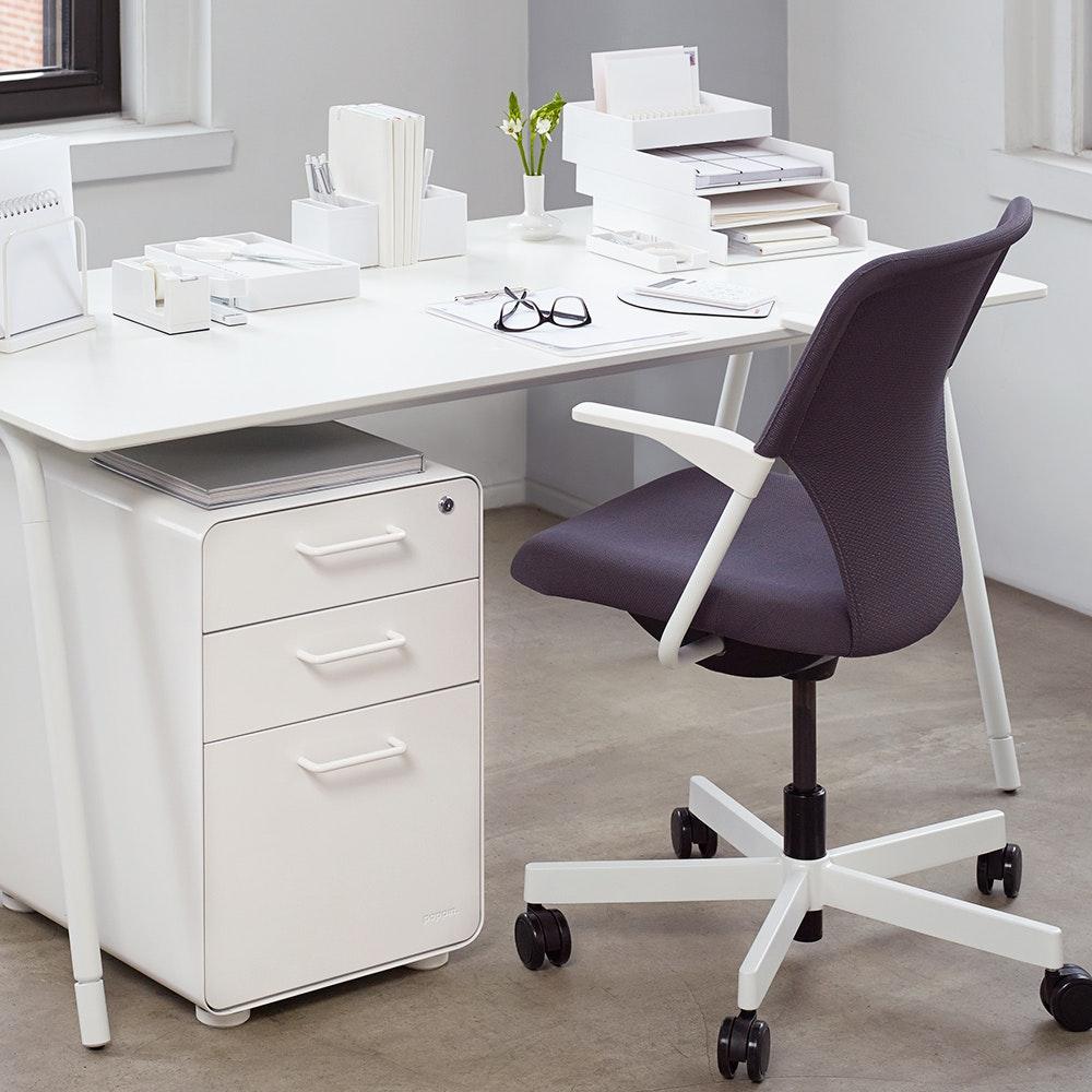 modern office furniture desk. white stow 3drawer file cabinetwhitehires modern office furniture desk