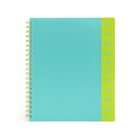 Aqua You Rule 3-Subject Notebook,Aqua,hi-res
