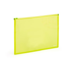 Neon Green Zip Folios, Set of 3,Lime Green,hi-res