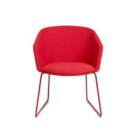 Red Pitch Sled Chair,Red,hi-res