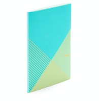 Slim Criss-Cross Notebook,Aqua,hi-res