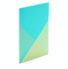 Aqua + Mint Slim Criss-Cross Notebook,Aqua,hi-res